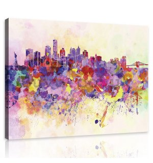 Painting on canvas: Pastel City - 75x100 cm