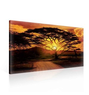 Painting on canvas: African Sunset - 75x100 cm