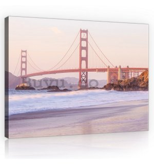 Painting on canvas: Golden Gate Bridge (4) - 75x100 cm