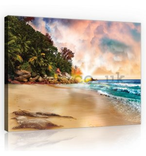 Painting on canvas: Paradise on the Beach (3) - 75x100 cm
