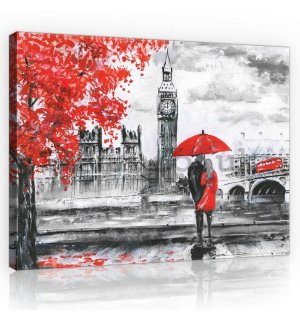 Painting on canvas: London (painted) - 75x100 cm