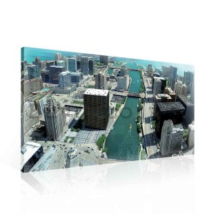 Painting on canvas: Chicago River - 75x100 cm