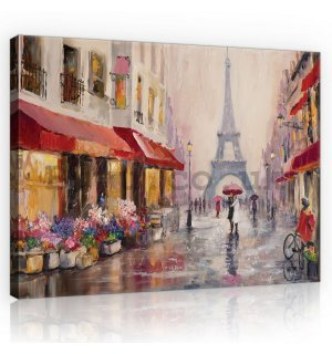 Painting on canvas: Eiffel tower (painted) - 75x100 cm