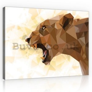 Painting on canvas: Lioness (geometry) - 75x100 cm