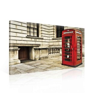 Painting on canvas: Telephone Booth (1) - 75x100 cm