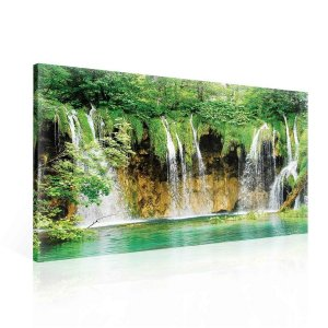 Painting on canvas: Lake and waterfall (2) - 75x100 cm
