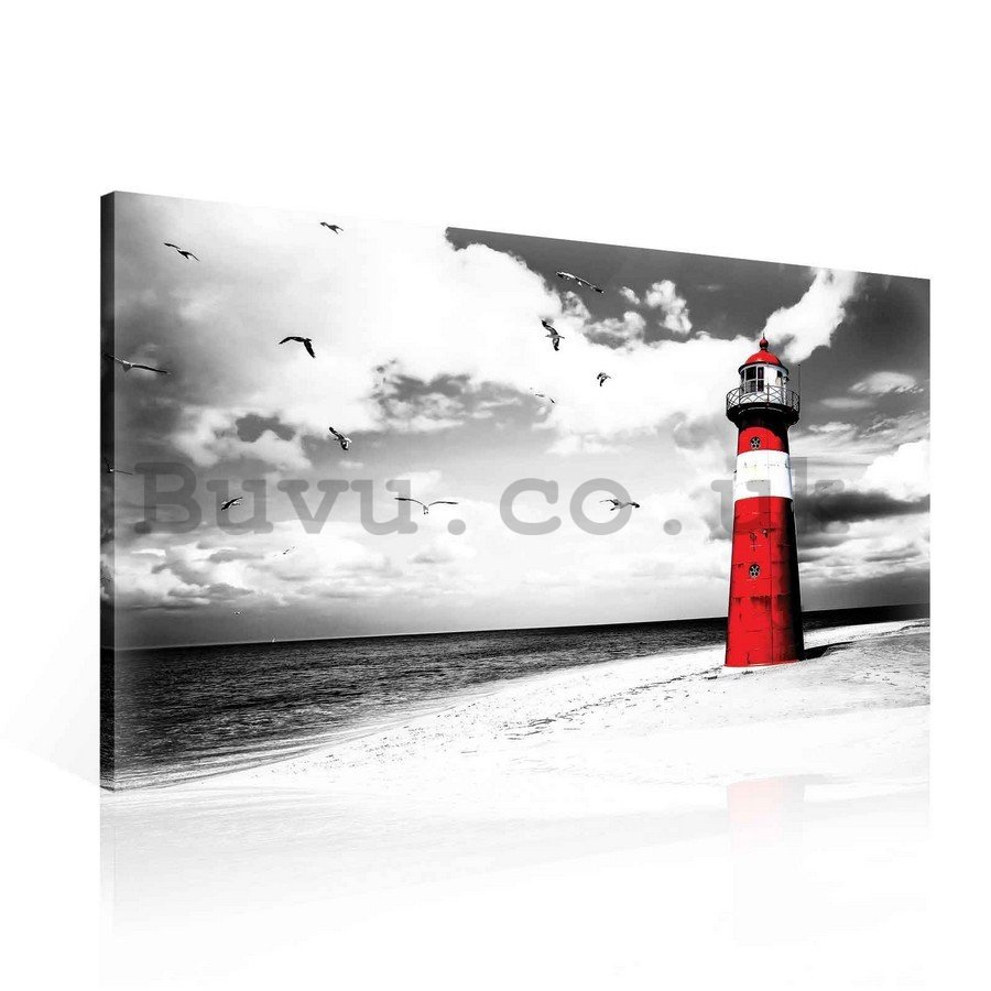 Painting on canvas: Lighthouse (2) - 75x100 cm
