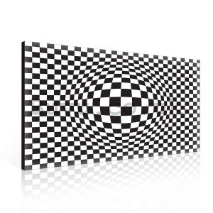 Painting on canvas: Cuboid Illusion (1) - 75x100 cm
