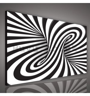 Painting on canvas: Striped Illusion (2) - 75x100 cm