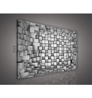 Painting on canvas: Cubic space - 75x100 cm