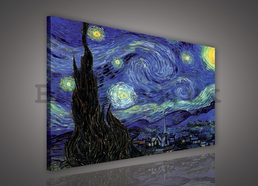 Painting on canvas: Star Night, Vincent van Gogh - 75x100 cm