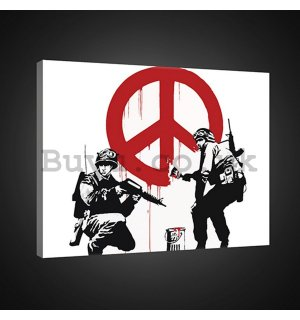Painting on canvas: Make Peace, not War (graffiti) - 75x100 cm