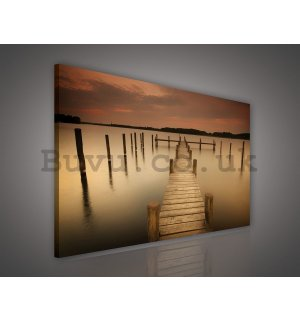 Painting on canvas: Pier (2) - 75x100 cm