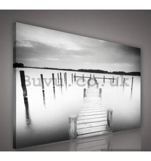 Painting on canvas: Pier (6) - 75x100 cm
