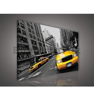 Painting on canvas: Manhattan Taxi (2) - 75x100 cm