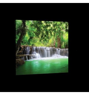 Painting on canvas: Waterfall (3) - 75x100 cm