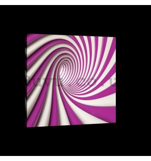 Painting on canvas: Violet spiral - 75x100 cm