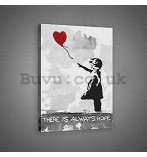 Painting on canvas: There is Always Hope (graffiti) - 75x100 cm