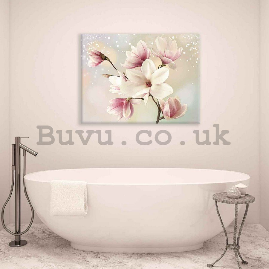 Painting on canvas: Magnolia (6) - 75x100 cm