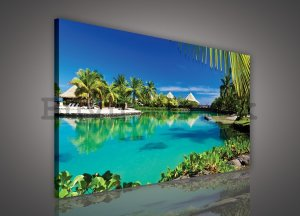 Painting on canvas: Hawaii (Bungalows) - 75x100 cm