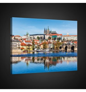 Painting on canvas: Prague (1) - 75x100 cm