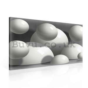 Painting on canvas: White spheres (1) - 75x100 cm