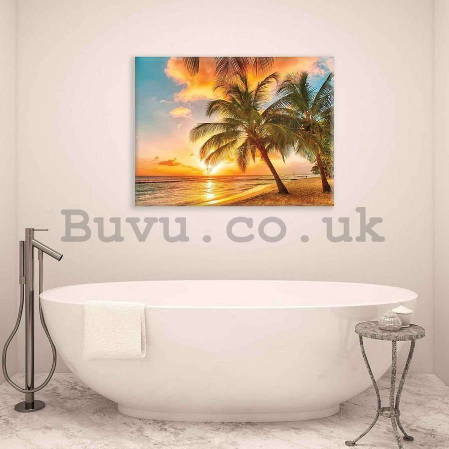 Painting on canvas: Sunset in paradise - 75x100 cm