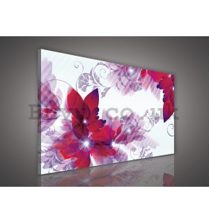 Painting on canvas: Abstract flowers (3) - 75x100 cm