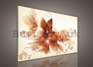 Painting on canvas: Colorful flowers (4) - 75x100 cm