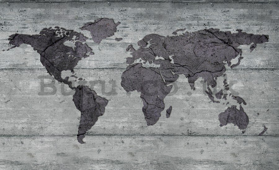 Painting on canvas: Art Map of the World (4) - 75x100 cm