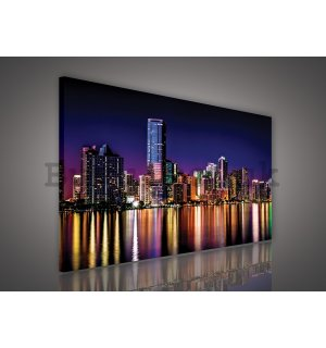 Painting on canvas: City lights (5) - 75x100 cm