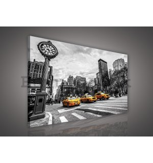 Painting on canvas: New York (Taxi) - 75x100 cm