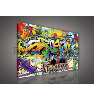 Painting on canvas: Graffiti (2) - 75x100 cm