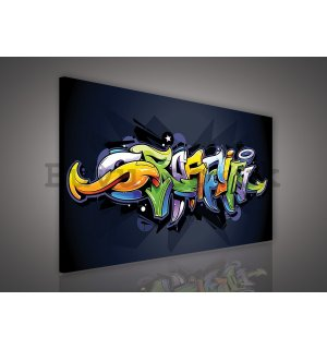 Painting on canvas: Graffiti (4) - 75x100 cm