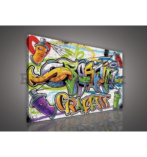 Painting on canvas: Graffiti (5) - 75x100 cm