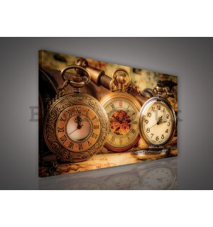 Painting on canvas: Stopwatch - 75x100 cm