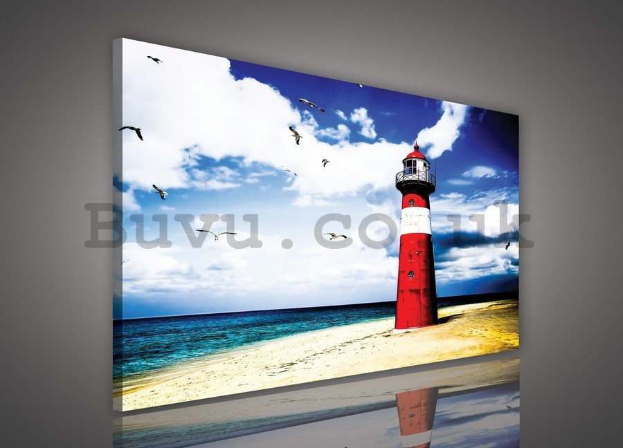 Painting on canvas: Lighthouse (4) - 75x100 cm