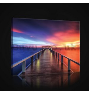 Painting on canvas: Two-color pier - 75x100 cm
