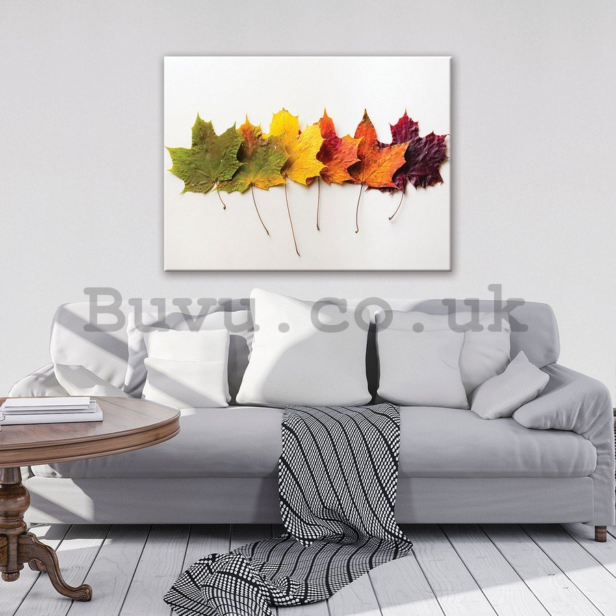 Painting on canvas: Autumn leaves - 75x100 cm
