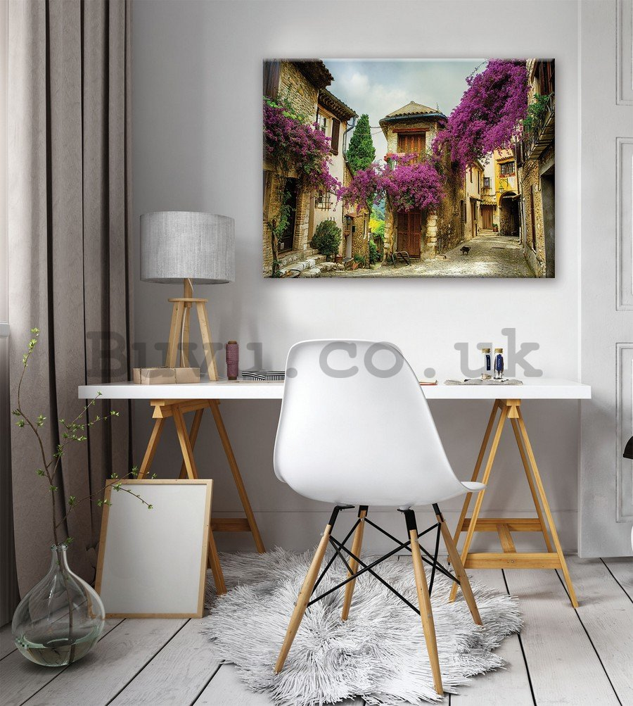 Painting on canvas: Floral Lane (4) - 75x100 cm
