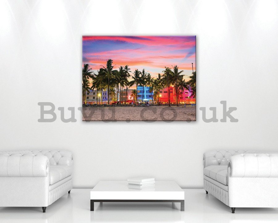 Painting on canvas: Seaside resort - 75x100 cm
