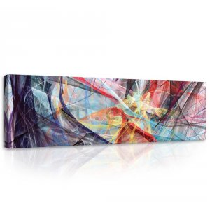 Painting on canvas: Modern Abstraction (2) - 145x45 cm