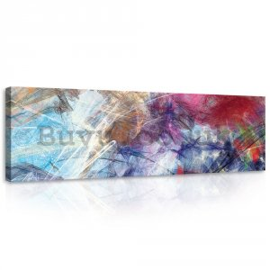 Painting on canvas: Modern abstraction (4) - 145x45 cm