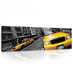 Painting on canvas: Manhattan Taxi (2) - 145x45 cm
