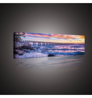 Painting on canvas: Sea sunset - 145x45 cm
