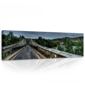 Painting on canvas: Before the storm (bridge) - 145x45 cm