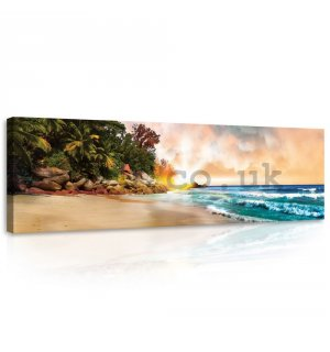 Painting on canvas: Paradise on the Beach (2) - 145x45 cm