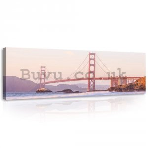 Painting on canvas: Golden Gate Bridge (4) - 145x45 cm