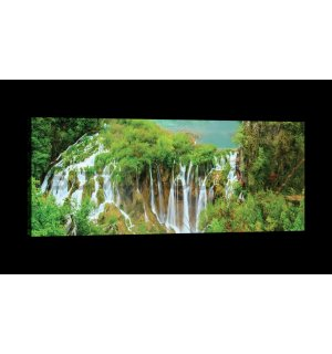 Painting on canvas: Waterfalls (3) - 145x45 cm