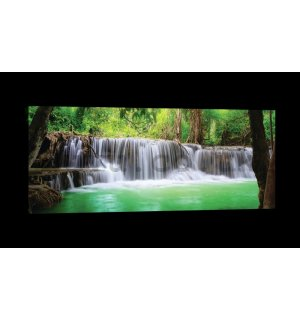 Painting on canvas: Waterfall (3) - 145x45 cm